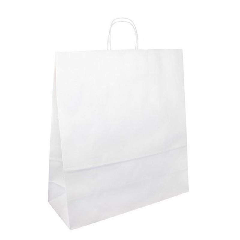 Papírová taška bílá Toptwist 40x16x45
