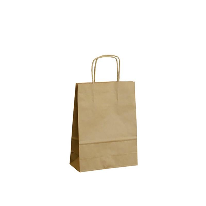 Papírová taška hnědá ExtraTWIST 18x8x24