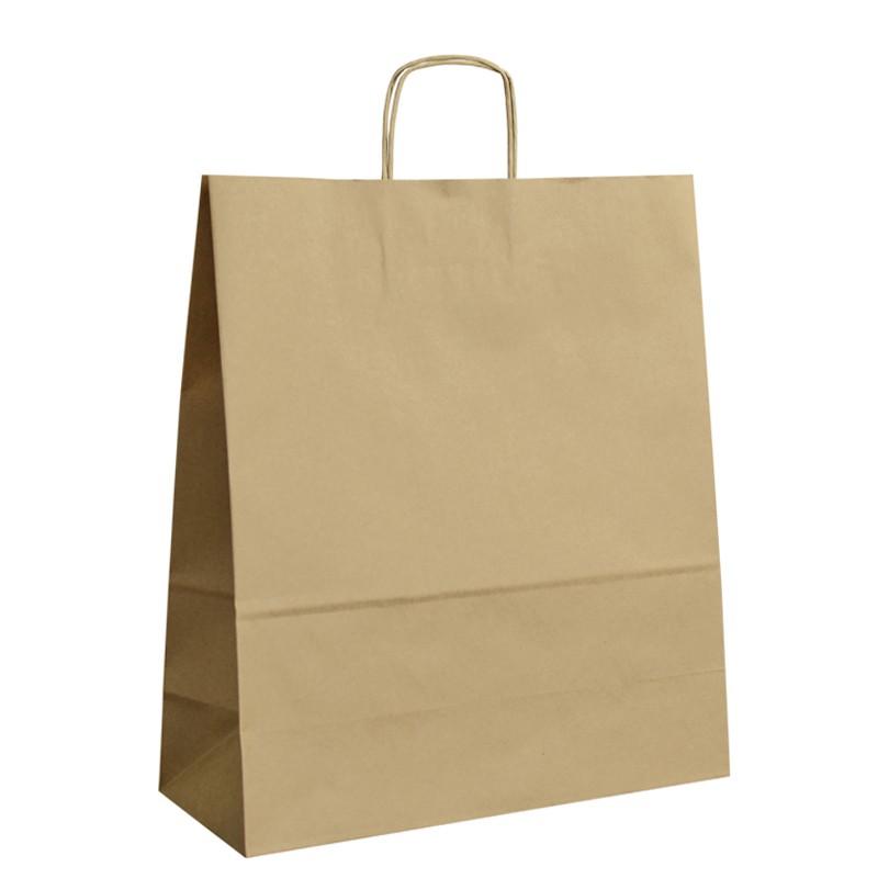 Papírová taška hnědá ExtraTWIST 40x16x45
