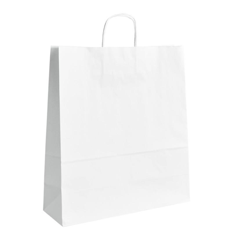 Papírová taška bílá ExtraTWIST 40x16x45