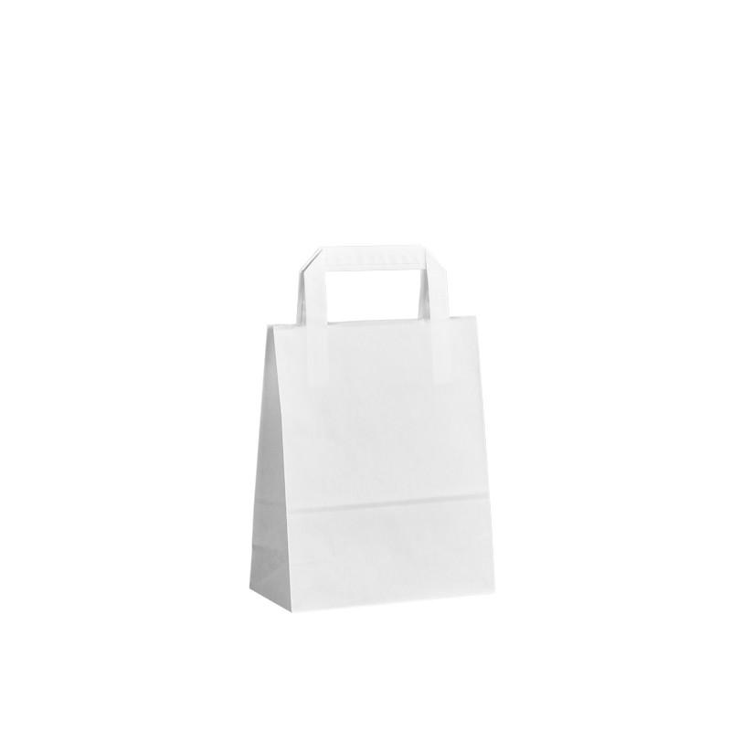 Papírová taška bílá Topcraft 18x8x22