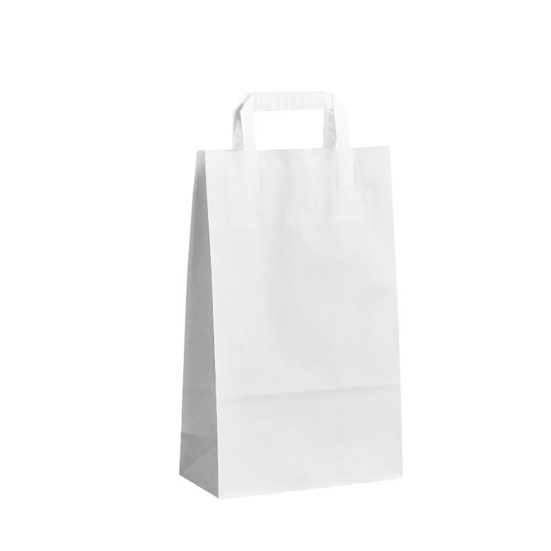 Papírová taška bílá Topcraft 22x10x36