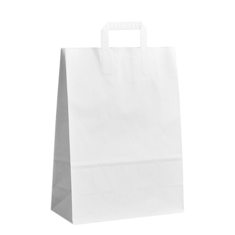 Papírová taška bílá Topcraft 32x14x42