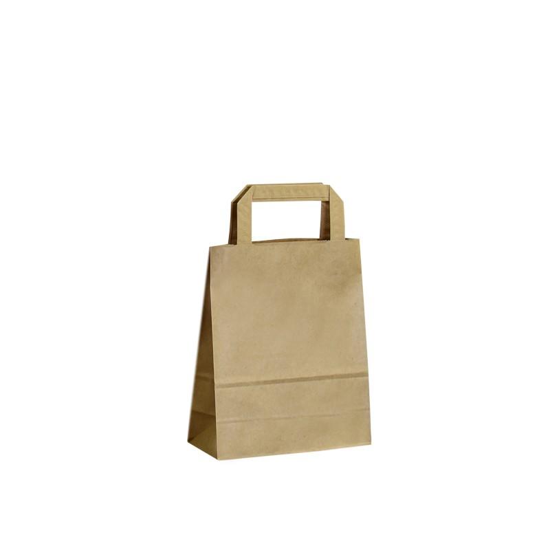 Papírová taška hnědá Krafter 18x9x22