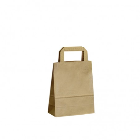 Taška s tiskem Topcraft hnědá 22x10,5x36