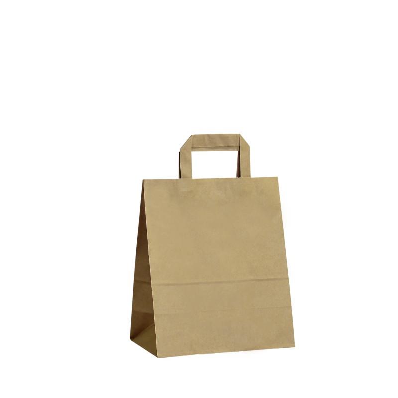 Papírová taška hnědá Krafter 22x11x25