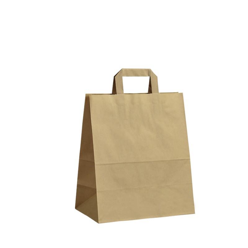 Papírová taška hnědá Krafter 26x14x30