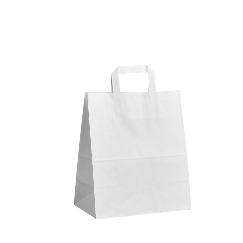 Papírová taška bílá Krafter 26x14x30