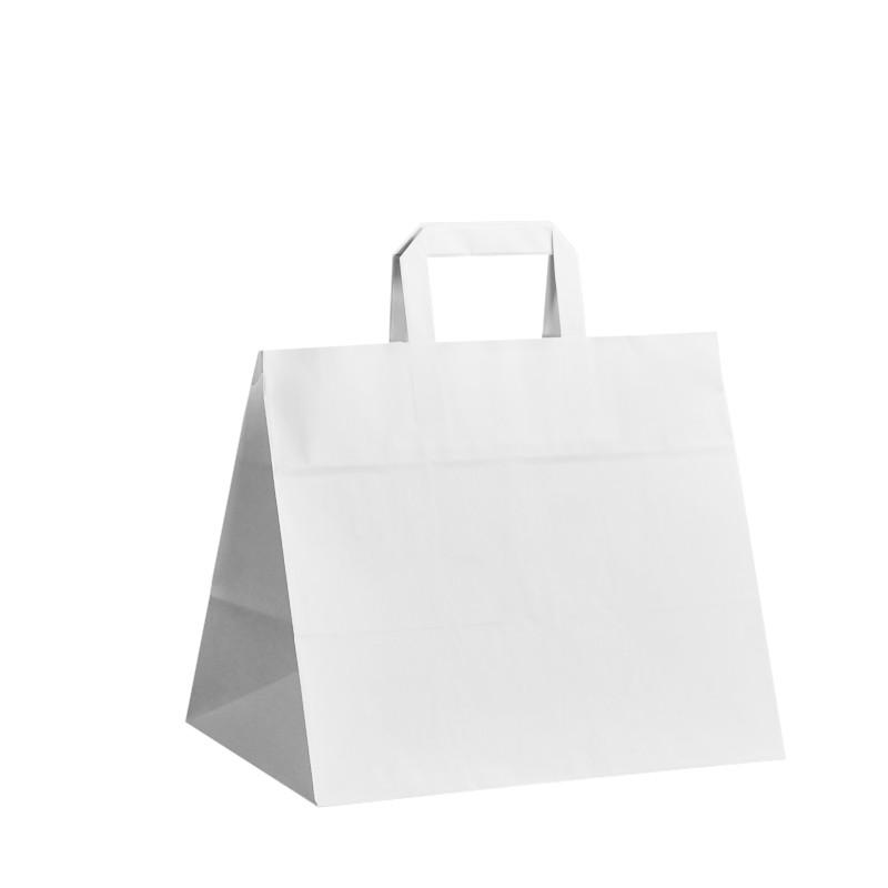 Papírová taška bílá Takeaway 32x20x28