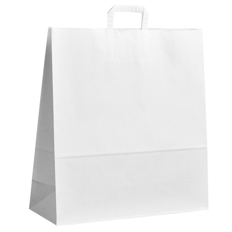 Papírová taška bílá ExtraKRAFT 45x17x48