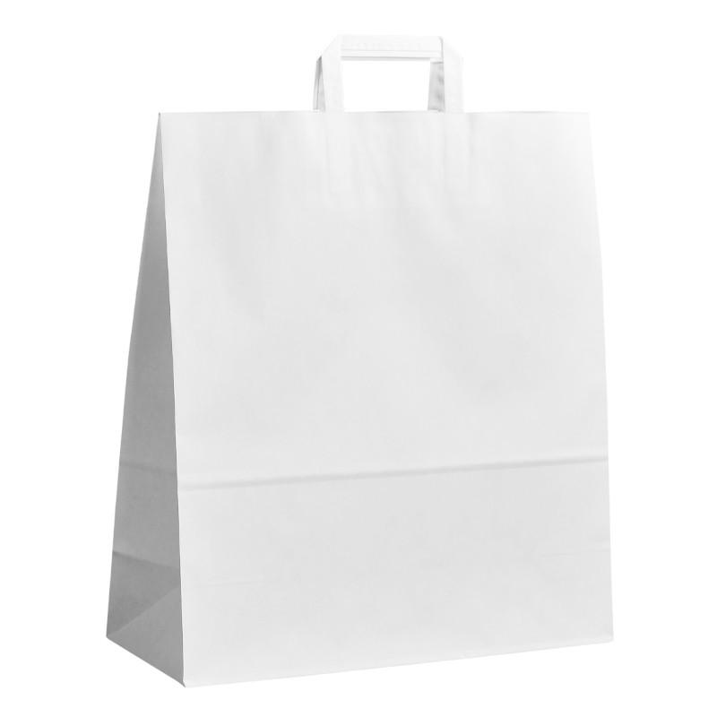 Papírová taška bílá ExtraKRAFT 40x16x45