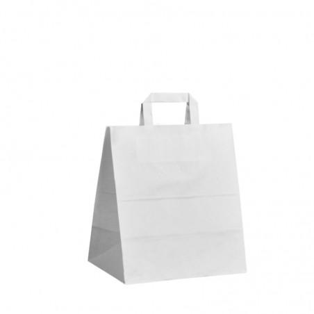 Taška s tiskem Topcraft bílá 22x10,5x36