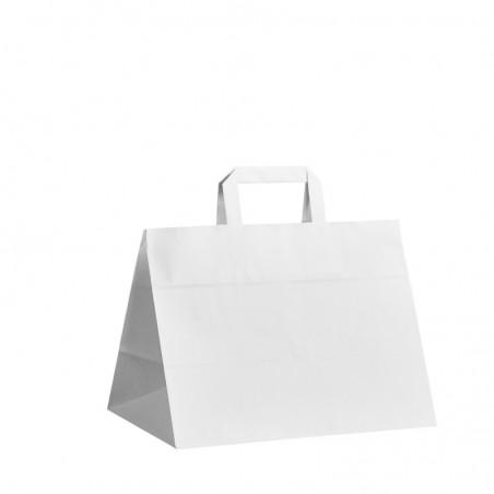 Taška s tiskem Topcraft bílá 26x14x36