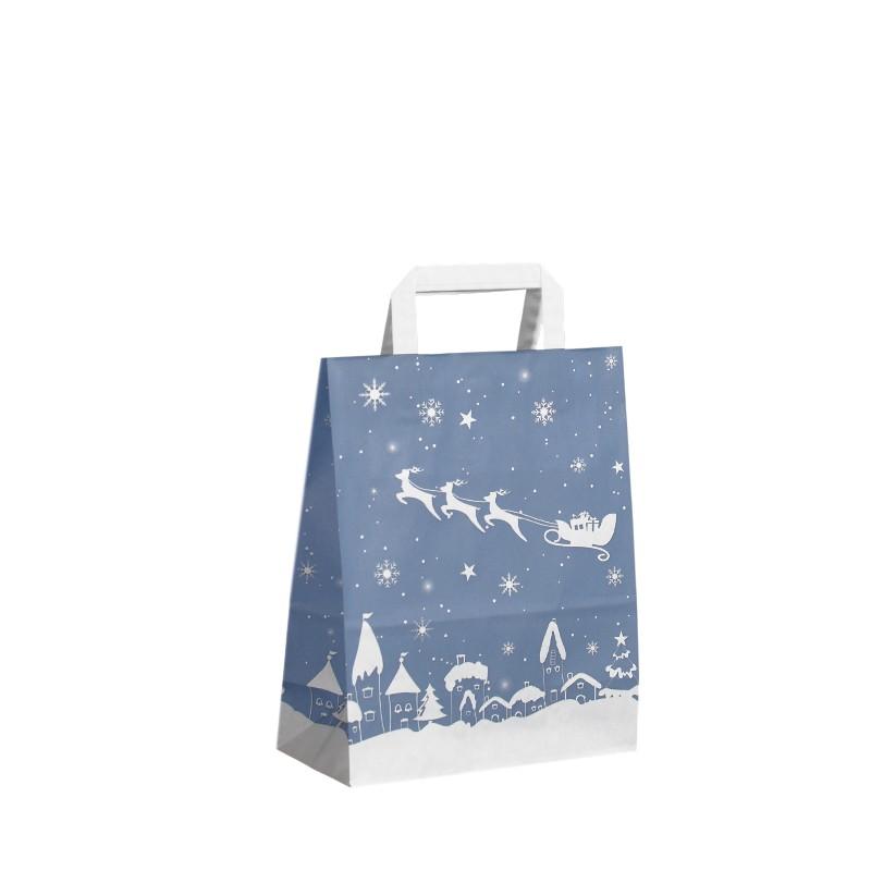 Vánoční taška Blue Santa 22x10x28 cm