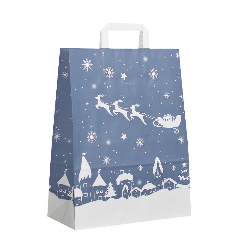 Vánoční taška Blue Santa 32x14x42 cm