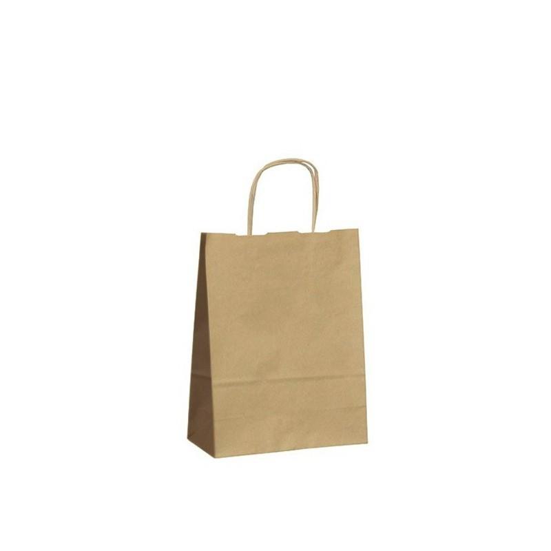 Papírová taška hnědá Twister 18x8x22 cm