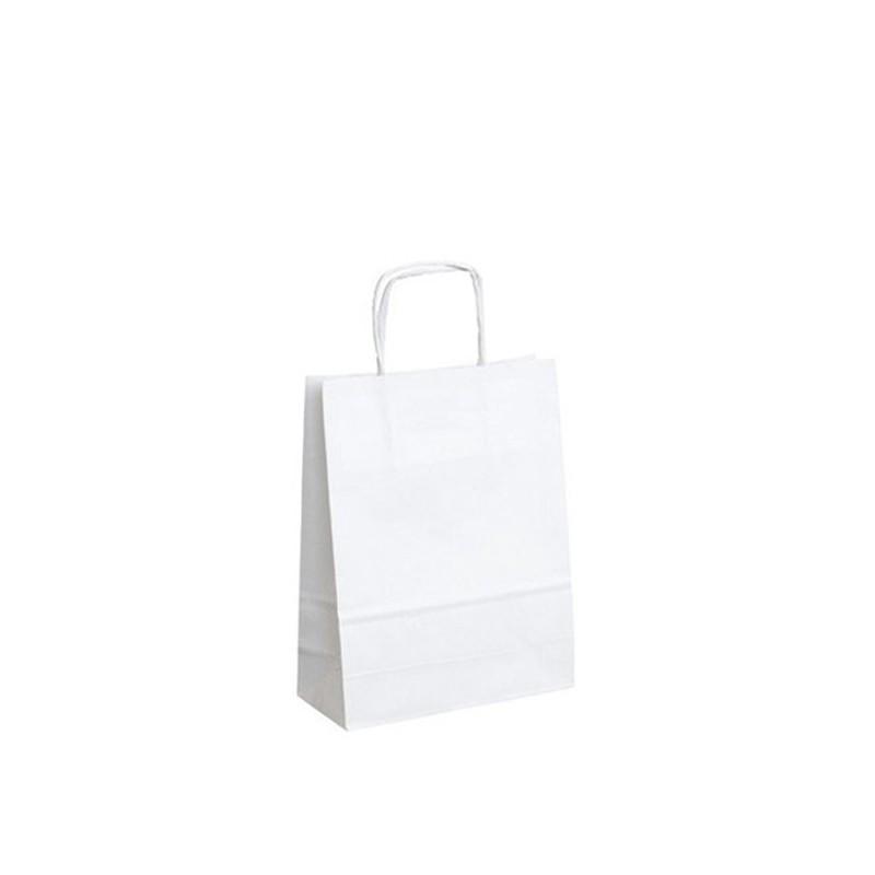 Papírová taška bílá Twister 18x8x22 cm