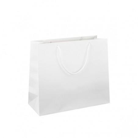 Taška s tiskem Takeaway bílá 32x22x24
