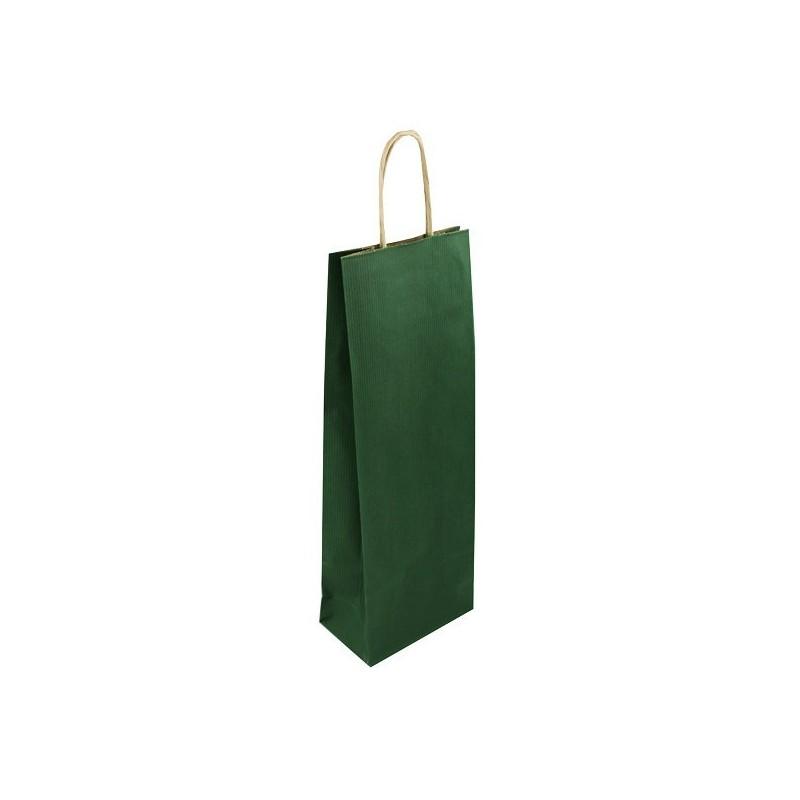 Taška na víno zelená Mosela 14x8x39