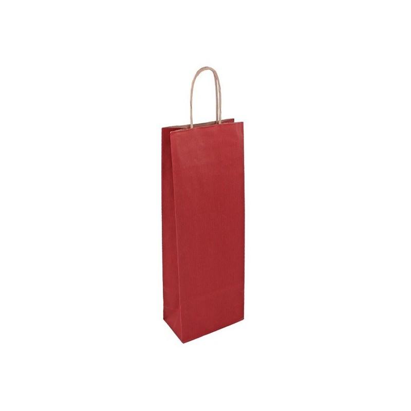 Taška na víno červená Mosela 14x8x39